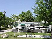 Enjoy spacious, shaded RV sites.