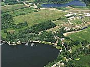Aerial view of Circle B RV Park.