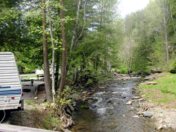 Camping at Mountain Stream RV Park in Marion, North Carolina