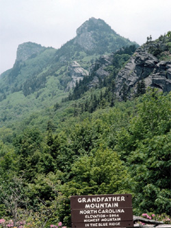 Grandfather Mountain in the Blue Ridge Mountains